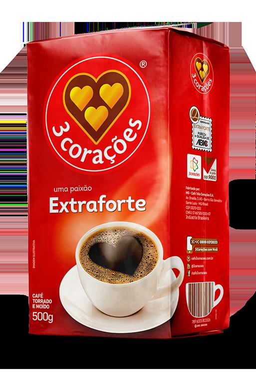 imagem de CAFE 3 CORACOES EXTRATO FORT VACUO 500G