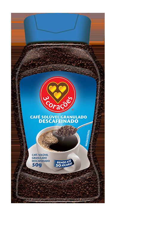 imagem de CAFE 3 CORACOES SOLUVEL DESCAF VDO 50G