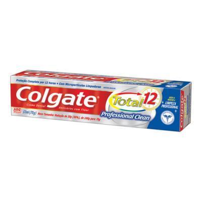 imagem de CREME DENTAL COLGATE  70G TOTAL 12 PROFESIONAL CLEAN