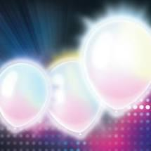 imagem de BALAO REGINA LED MULTICOLORS COM 5