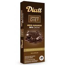 imagem de CHOCOLATE DIATT DIET MEIO AMARGO 25GR