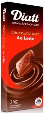 imagem de CHOCOLATE DIATT DIET AO LEITE 25GR