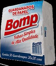 imagem de GUARDANAPO BOMP C/50 22X22,5 BCO
