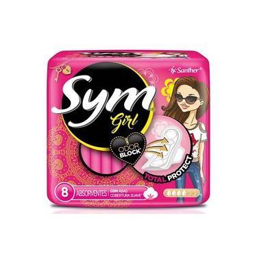 imagem de ABSORVENTE SYM com 8 COM   AB 360 GIRL SUAVE