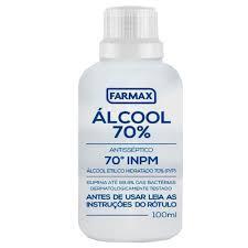 imagem de ALCOOL FARMAX 70% 100ML