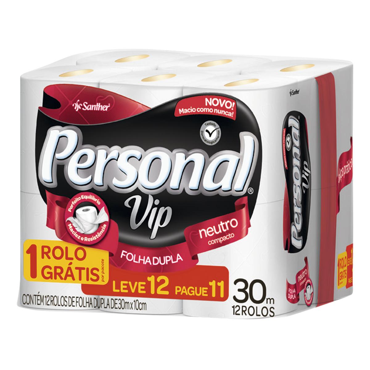imagem de PAPEL HIG PERSONAL FOLHA DUPLA VIP L12P11 30M