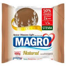 imagem de ACUCAR MASCAVO MAGRO LIGHT COM STEVIA 400G